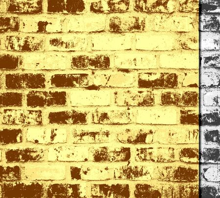 Abstract art brick wall texture background photo