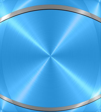 Blue shiny metal texture background photo