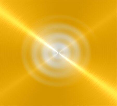 Yellow shiny metal texture background photo