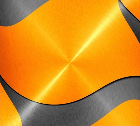 金屬質感的背景與橙色和灰色