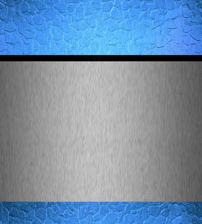 metal texture background with blue and silver photo