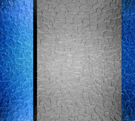 anodized aluminium: metal texture background with blue and silver  Stock Photo