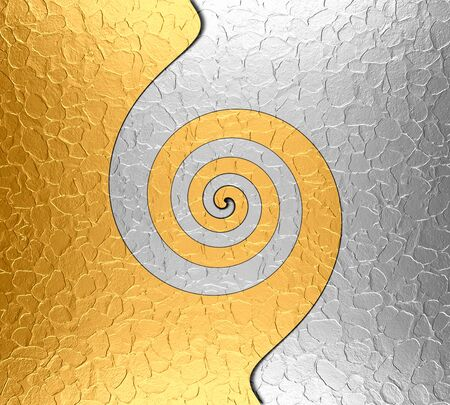 Gold and Silver Stainless Steel Metal Swirl