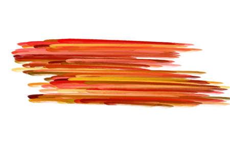 paint brush texture orange watercolor spot blotch isolated  Stock Photo - 17496838