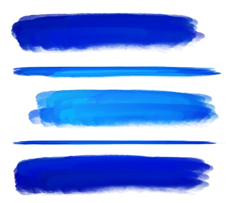 paint brush texture blue watercolor spot blotch isolated  Stock Photo - 17496836