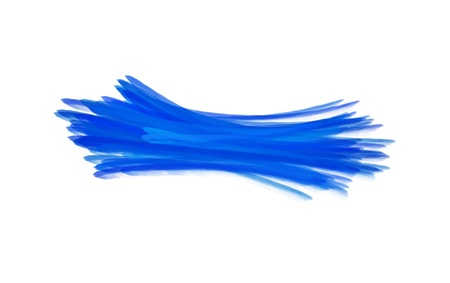 paint brush texture blue watercolor spot blotch isolated Stock Photo - 17496827
