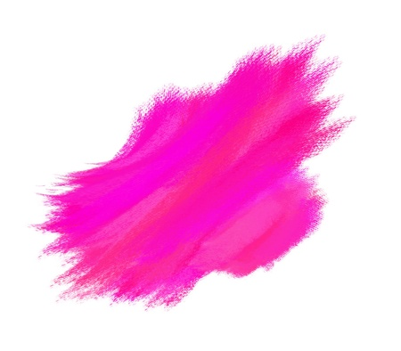 paint brush texture pink spot blotch isolated  Stock Photo - 17496858