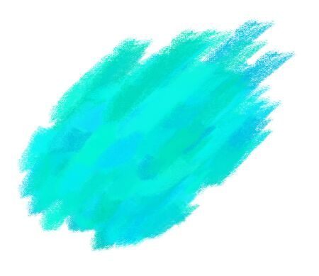 paint brush texture aqua spot blotch isolated  photo