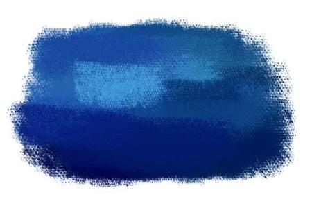 paint brush texture blue spot blotch isolated
