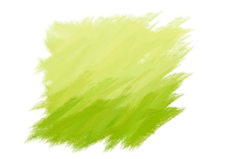 paint brush texture lime spot blotch isolated  Stock Photo - 17516006
