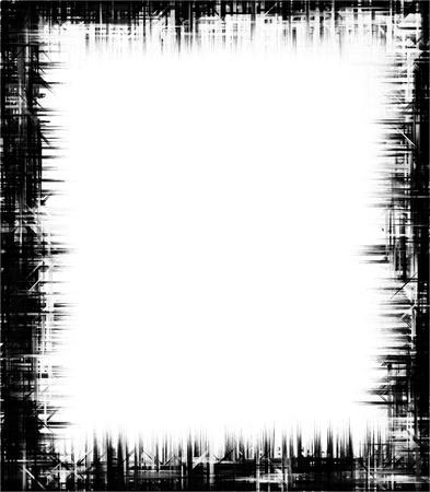 digital photo: Computer designed grunge border or frame