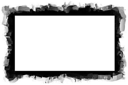 uneven edge: Computer designed grunge border or frame