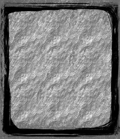Computer designed grunge border or frame photo