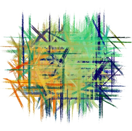 Cool colors hand painted art for background Stock Photo - 17683751