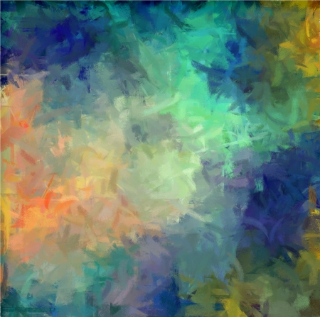 Cool colors hand painted art for background