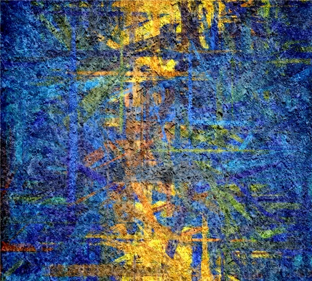 blue yellow grunge texture art background Stock Photo - 17684171