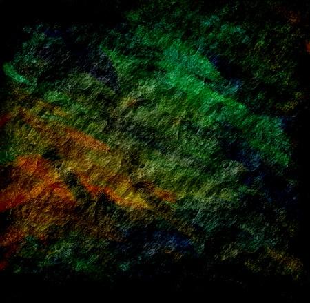 meteorites: dark orange green grunge texture art background