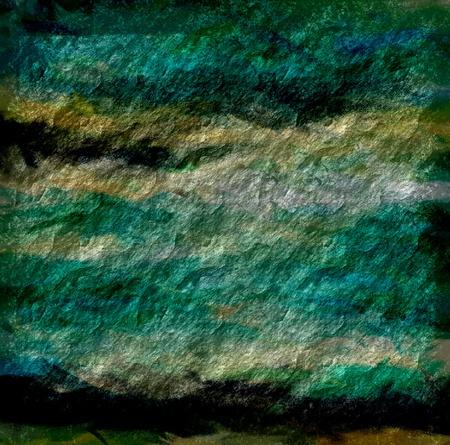meteorites: green and yellow grunge texture art background