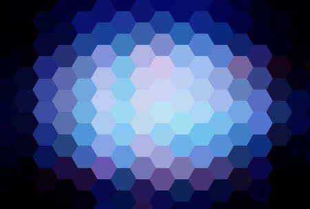 cubismo: azul cubismo arte fondo hex�gono Foto de archivo