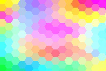 cubismo: multi-color cubismo arte fondo hex�gono