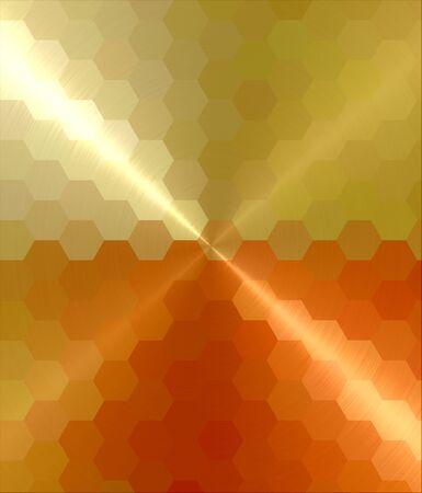 orange und gelb hexagon Kubismus Kunst Hintergrund
