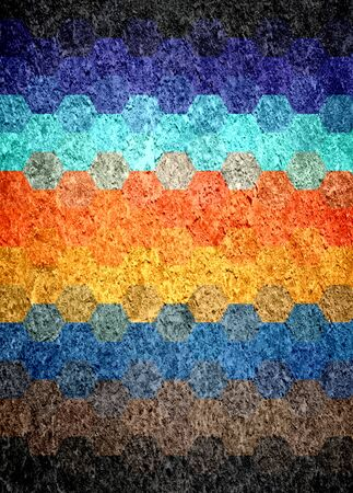 blue and orange grunge textured art background  photo