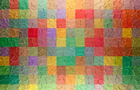 colorful square metal texture background Stock Photo - 18030701