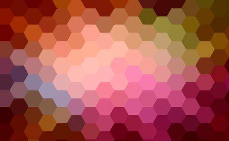 multi-color hexagon cubism art background photo