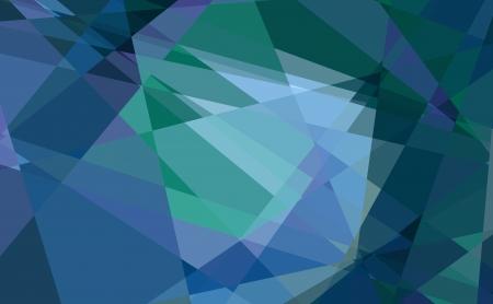 blue diamond cubism art background photo
