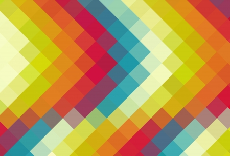 cubism: Colorful diamond cubism art background Stock Photo