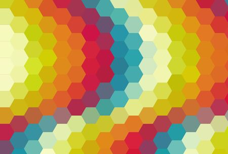cubismo: Cubismo colorido hex�gono arte Foto de archivo