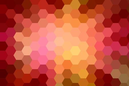 warm colors hexagon cubism art background photo