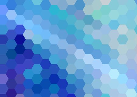 blue hexagonal cubism art background Stock Photo - 18071821