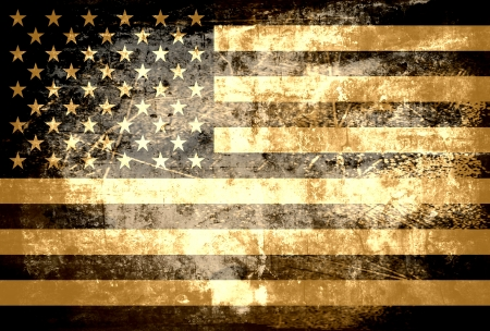 Grunge American flag background