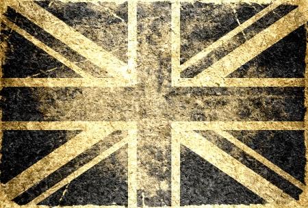 identidad cultural: Grunge bandera del Reino Unido Foto de archivo