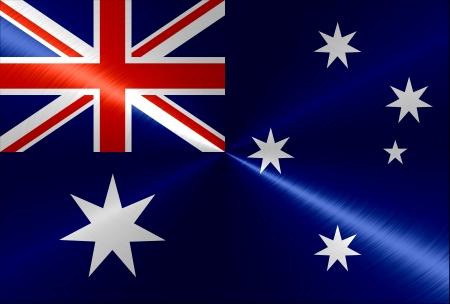 Metallic metal Australia flag background
