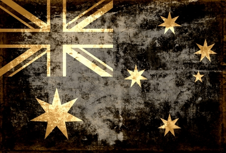 Grunge Australia flag background photo