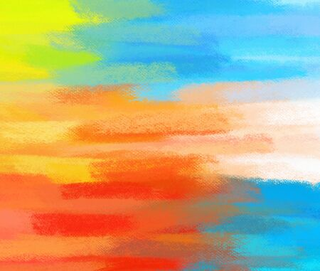 Abstract multicolor hand painted art for background Stock Photo - 18186296