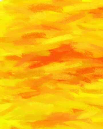 Abstract orange yellow hand painted art for background  photo