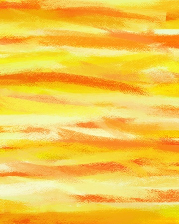 Abstract yellow hand painted art for background  photo