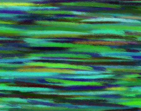 Abstract blue green hand painted art for background photo
