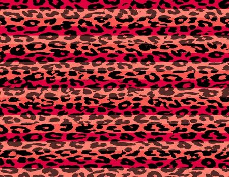 Red Black Leopard Print Skin Stripe Pattern  photo