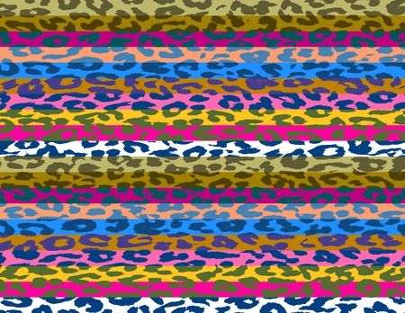 Multicolor Leopard Print Skin Stripe Pattern 2 photo
