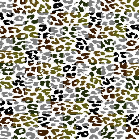 Retro Leopard Print Skin Square Pattern photo
