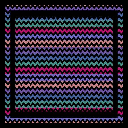Chevron zigzag square seamless pattern 7 photo