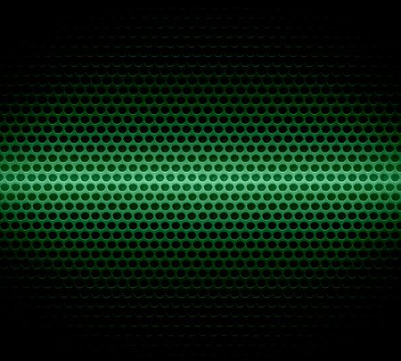 Dark Green Steel Metal Hole Texture Background Stock Photo