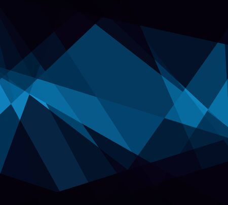 Blue Cubism Crystal Abstract Background Stock Photo