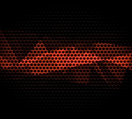 reflective background: Dark Orange Steel Metal Hole Texture Background