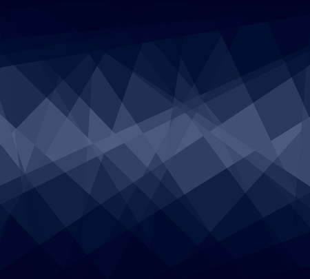 Dark Blue Cubism Crystal Abstract