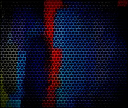 Blue and Red Seamless Circle Perforated Grill Texture photo